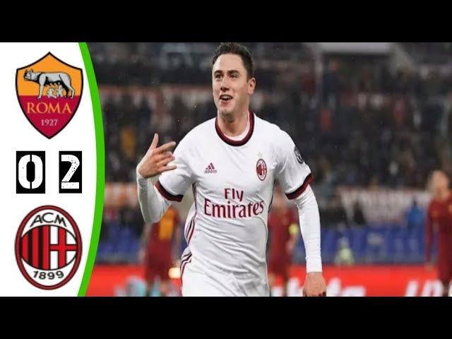 Roma vs Milan 0-2 All Goal Highligts 25/02/2018