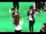 Red Velvet dancing LIKEY with Twice Nayeon at ISAC 2018