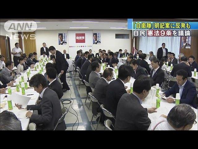 「自衛隊」明記案に反発も 自民党 憲法9条を議論(17/06/21)