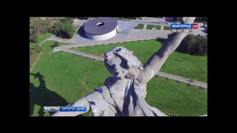 Реставрация скульптуры «Родина-мать зовет!»: взгляд с высоты и изнутри