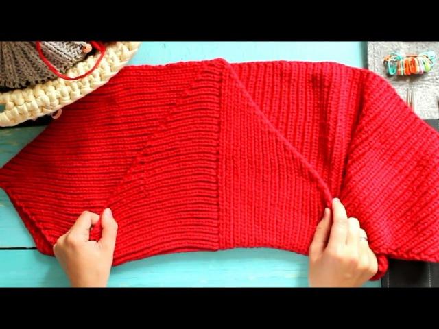 БАКТУС спицами Мастер класс снуд спицами как связать шарф мастер-класс мк knitting