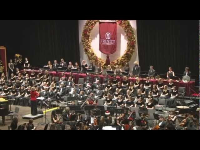 Trinity University Handbell Ensemble plays
