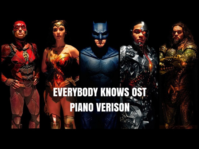 Sigrid Everybody Knows Piano Cover Justice League OST