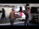 Roy Elghanayan Training WWE Hollywood Action Start Shad Gaspard at Krav Maga L.A. REKM