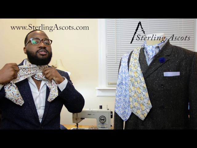 How to tie an ascot (the best technique for silk) - Sterling Ascots