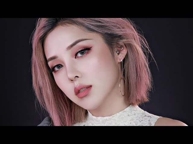 Pink Gold Glittery Make up (With subs) 핑크 골드 글리터리 메이크업