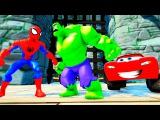 Тачки Молния Маккуин и Человек-Паук с Халком Мультик Дисней