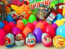 50 Surprise eggs Unboxing Kinder Surprise Eggs Cars Киндеры Сюрпризы на русском языке тачки