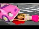 Куклы видео Машина сбила Барби мультик с игрушками игры для девочек