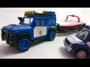 Мультфильмы про машинки полицейская машина, эвакуатор и команда спасателей. Видео для детей
