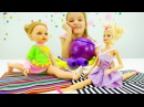 Детские игрушки и видео про куклы. Барби и кукла Алина художественная гимнастика на ютуб