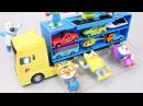뽀로로 뽀롱뽀롱 뽀로로 캐리어카 장난감 Pororo Car Carrier Playset Toys Конструктор мультфильмы про машинки Игрушки