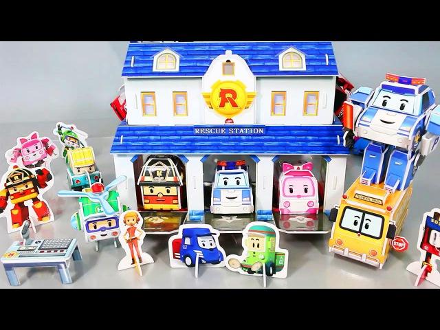 로보카폴리 만들기 폴리 뽀로로 꼬마버스 또봇 장난감 мультфильмы про машинки Робокар Поли Игрушки Robocar Poli Toy