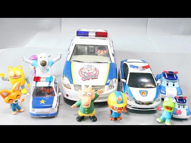 뽀로로 경찰차 경찰놀이 로보카폴리 또봇c 장난감 에디 Robocar Poli Pororo Toys Робокар Поли мультфильмы про машинки Игрушки