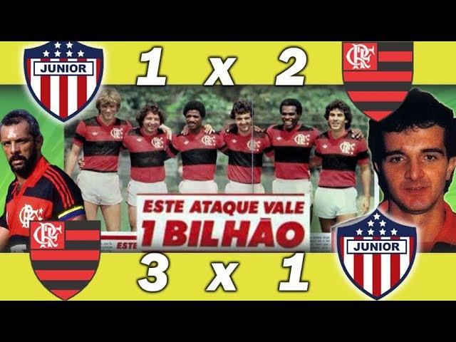 Vitórias do Flamengo sobre o Junior Barranquilla na Libertadores 1984 * Reportagem com Edimar