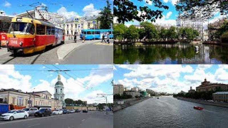 А я иду, шагаю по Москве! (Прогулка по Москве и трамваи Tatra-t3 и 71-619)