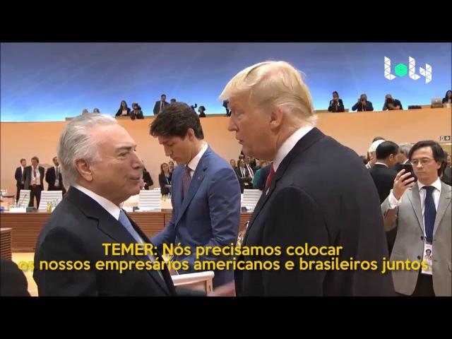 [LEGENDADO] O ENCONTRO DE TRUMP E TEMER NO G20