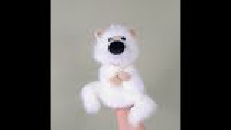 Little white bear. Bibabo. Marionette. Слайдшоу. Белый мишка малыш.