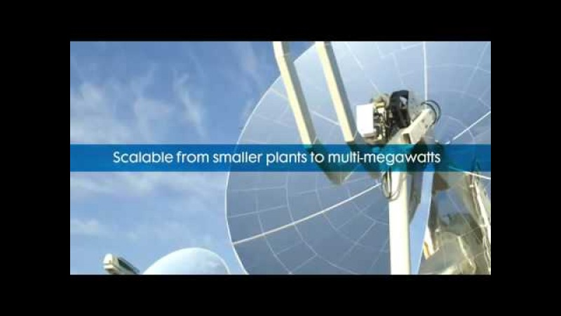 Solar Stirling motor 3kW infinia full video ( must see )