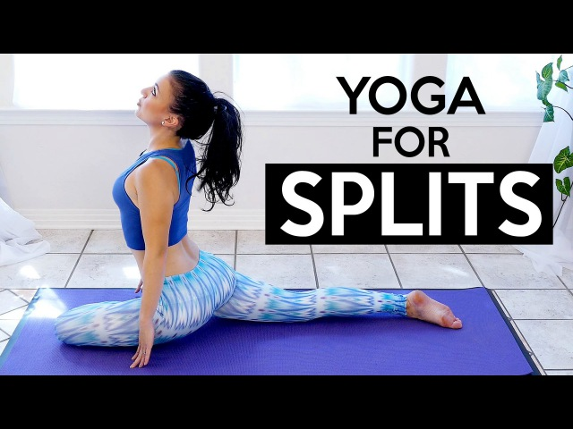 30 Minute Splits Stretch Flexibility Yoga Workout For Beginners, How To Tutorial Routine