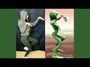 Зеленый человек танцует /Кто круче /Прям все повторили