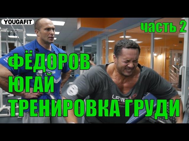 ФЁДОРОВ ЮГАЙ ТРЕНИРОВКА ГРУДИ ЧАСТЬ 2