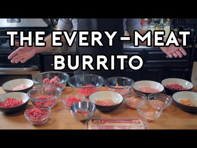 Binging with Babish 2 Million Subscriber Special: The Every-Meat Burrito from Regular Show