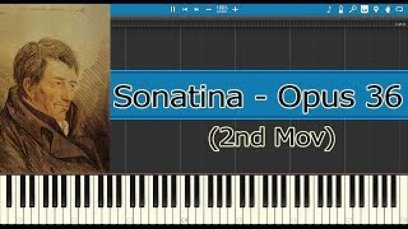 Sonatina Opus 36 N° 1, Opus 36, 2nd Mov - Clementi (Piano Tutorial)