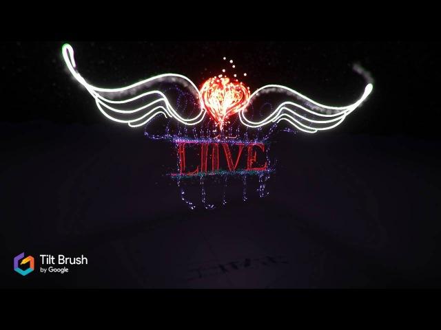 Love - Tilt brush