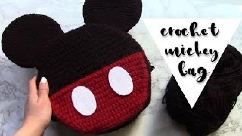 Crochet Mickey Mouse Bag DIY Mickey Purse