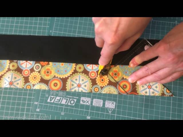 HAPPY JELLY ROLL (small) Patchwork Template tutorial by Csoki-Folt