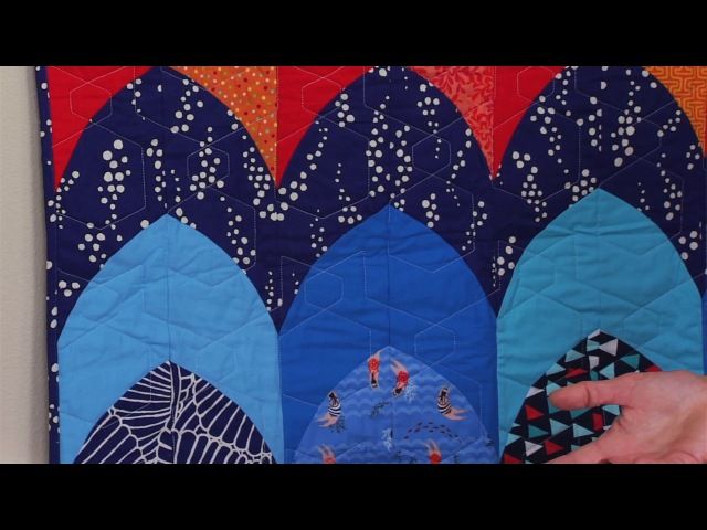 From the Sizzix Quilting Workshop: Curved Braid with Victoria Findlay Wolfe
