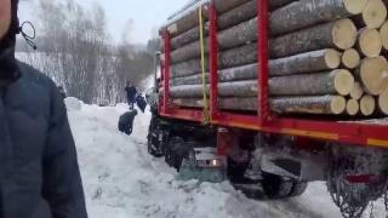 Камаз и ман авария в лесу