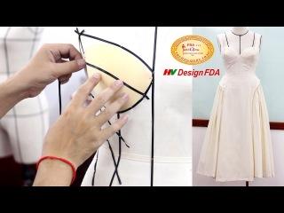 Học cách Draping cơ bản - Thực hiện draping đầm corset thời trang trên mannequin