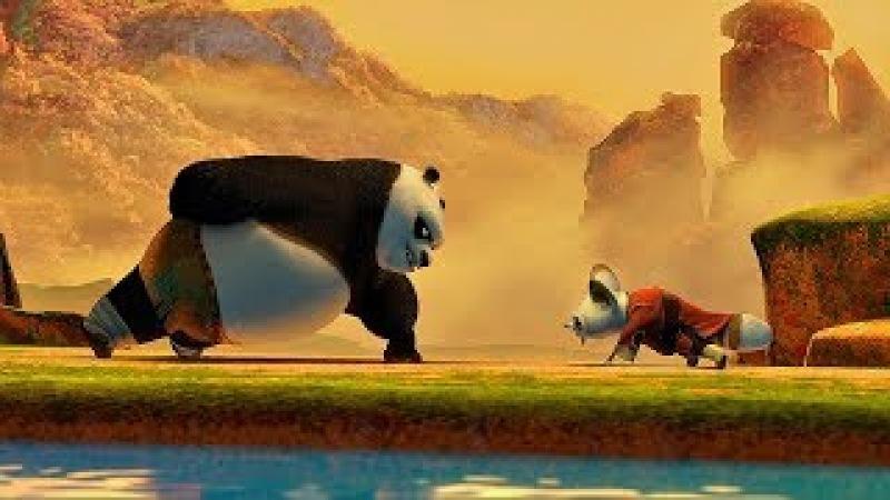 Тренировки По. Бой за пельмешку с Шифу. Кунг-фу панда. 2008