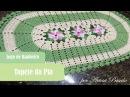 Jogo de Banheiro Flor Catavento - Tapete da Pia - Crochê - PAP 1/3