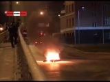 В #Екатеринбурге сняли горящего #мотоциклиста