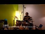 minimalist drum recording 8-, 4-, 3-, 2-, and 1-mic setups