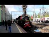Ретро поезд Победа в Саратове 6 мая