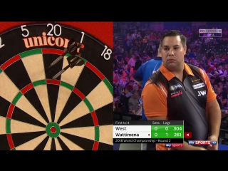 Steve West vs Jermaine Wattimena (PDC World Darts Championship 2018 / Round 2)