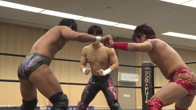 MAO vs. Soma Takao vs. Tetsuya Endo (DDT - Tsuyuhashi Again in Nagoya 2018)
