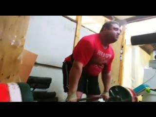 Влад Алхазов (Израиль), становая тяга с высоких плинтов - 480 кг💪