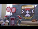 Робот встречает творческую молодежь в обновленном Дворце Офицеров