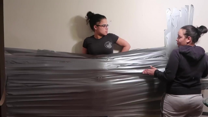 I DUCT TAPED MY GIRLFRIEND TO A WALL (BAD IDEA)😳