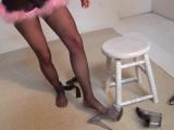 Black PANTYHOSE Чёрные колготки девушка показывает попу трусики чулки 2017 не порно sissy trans русское домашнее ass ножки фети