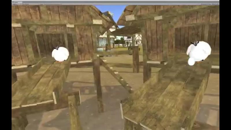 Волк ловит яйца (VR, виртуальная реальность)