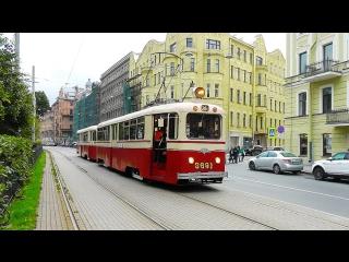 30.09.2017г. Санкт-Петербург. Выставка трамваев. 110 лет городскому трамваю.