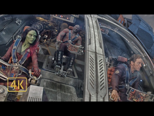 Стражи Галактики пробиваются на корабль Ронана Обвинителя. Стражи Галактики