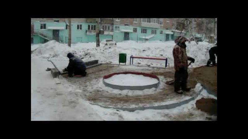 [Николаевск-на-Амуре-ДЕНЬ ЗА ДНЁМ] [разГАворы на улице] 2 мостим брусчатку зимой
