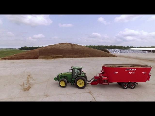 Diet feeders - Mixer Feeder Wagons - Feeding Robots - TMR Mixers - interactive company film TRIOLIET